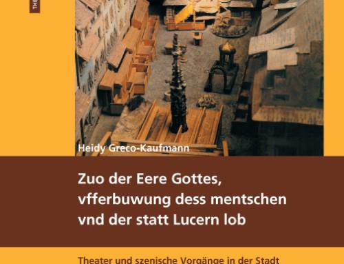 Publikationen zur Theatergeschichte